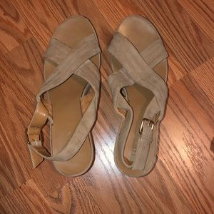 Tan Jcrew wedges